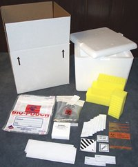 Item # CPI-C03, Blood Kits TY-03 Container - Custom Pack